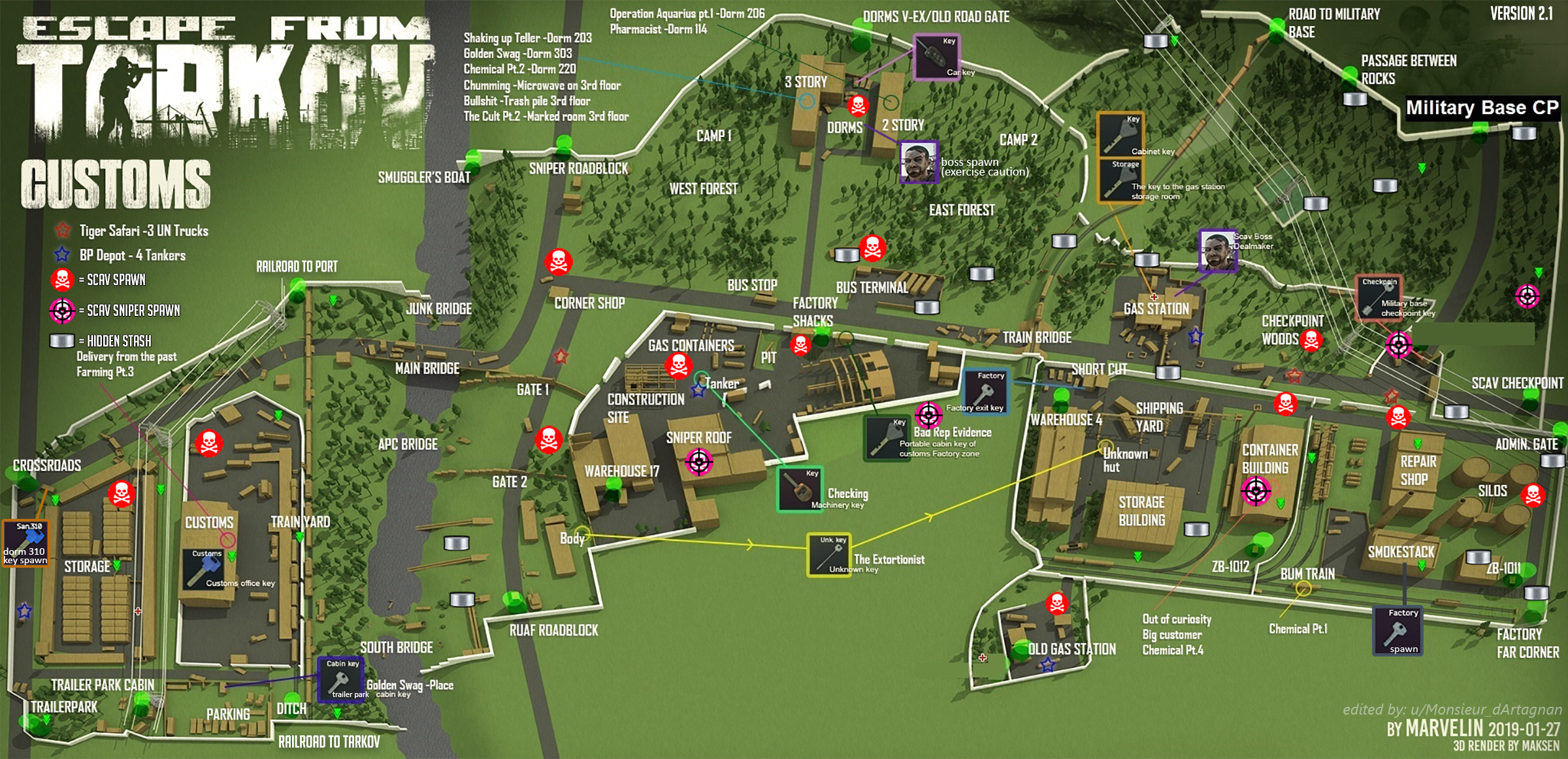 escape from tarkov customs detailed map