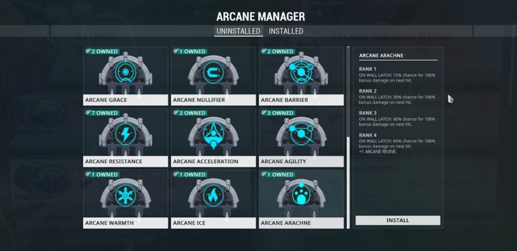 Arcanes Ranking up Manager