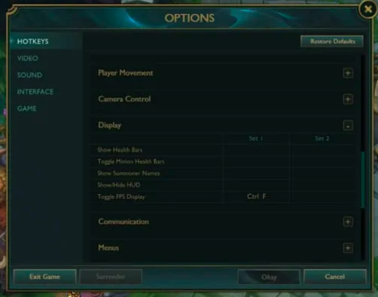 check ping ms in league