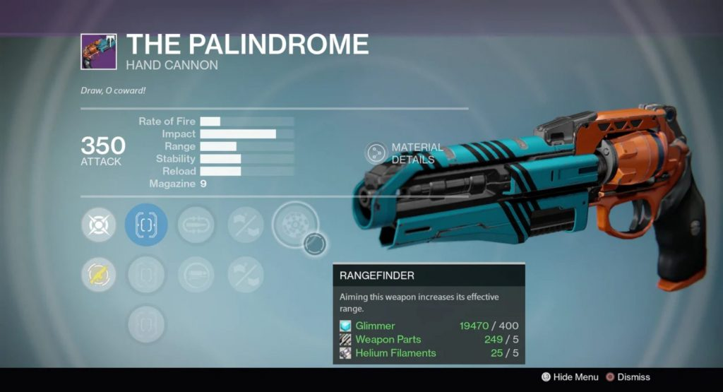 palindrome hand canon